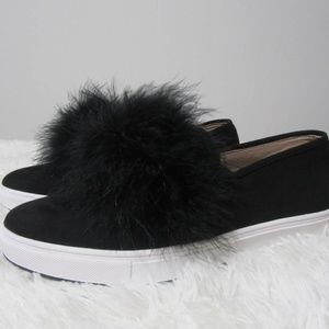 Steve Madden Faux Suede Feather Slip On Sneakers 9